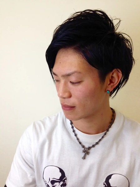 ヘアカラーモデル!ブルーの髪色はカッコイイよ!金沢市美容室4cm