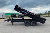 Tandem Axle deck over dump trailer pintle hook for sale in alberta