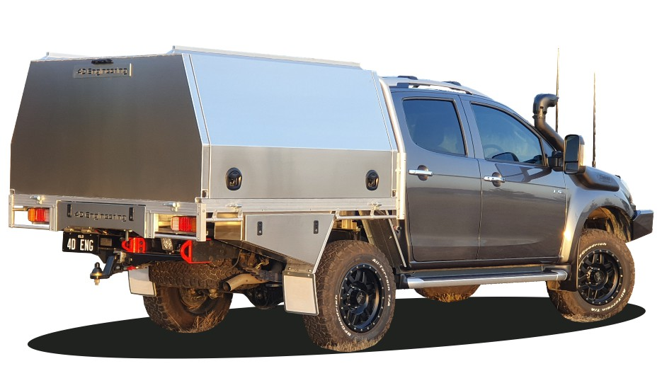 Isuzu Dmax Ute Canopy Tool Boxes Drawers Roof Rails