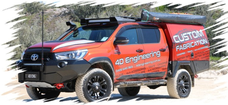 4D Engineering Toyota Hilux Rugged X SR5 Ute Canopy
