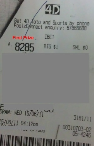 15 June 11 Draw Win $4089 – Hit First Prize (Direct, Ibet