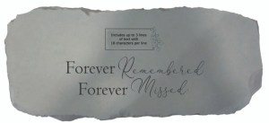 Garden Bench – Forever remembered (Personalized)
