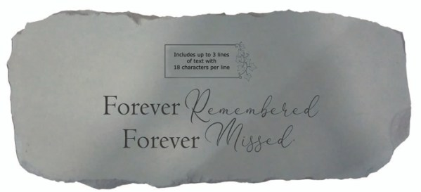 Garden Bench - Forever remembered (Personalized)