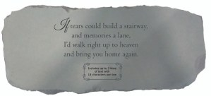 Garden Bench – If Tears Could Build a Stairway (Personalized)