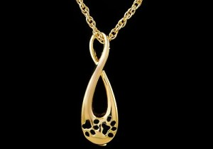 Infinity With Paws Gold Pendant
