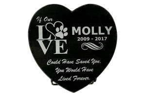 Granite Heart Love Plaque
