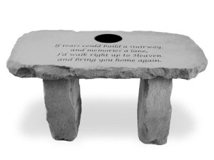 Garden Bench – If tears could build (Personalized)