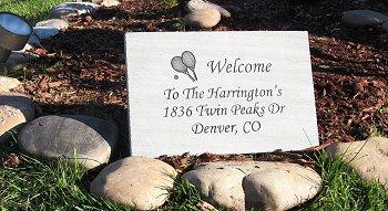 Large PA Bluestone Address Marker