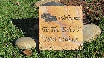 Medium TN Golden Flagstone Address Marker