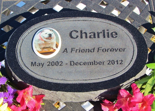 Engraved Granite Oval With Tile