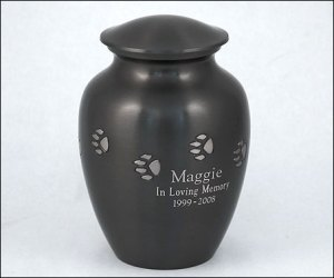 Solid Brass Paw Print Urns – Engraved