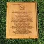 Rainbow Bridge Poem Wooden Plaque (8″ x 10″)