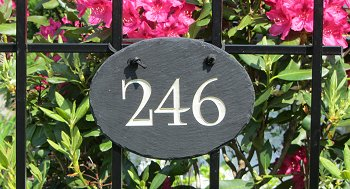 Slate Oval Address Marker