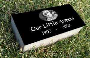 Super Premium Black Granite <br />Burial Markers, 4″ Thick!