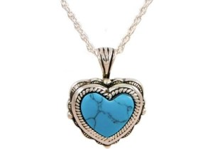 Heart With Turquoise Stone Pendant