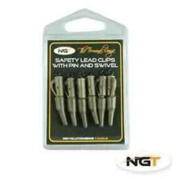 NGT Safety Lead Clips with Pin e Swivel 4fishing