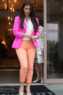 Kim Kardashian and Kris Jenner out and about for church service, Calabassas, California, America - 25 Mar 2012