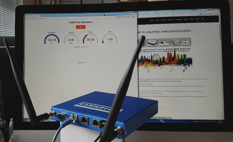 Demonstrating 150Mbps 4G/LTE-A Connection to a Desktop LTE CPE