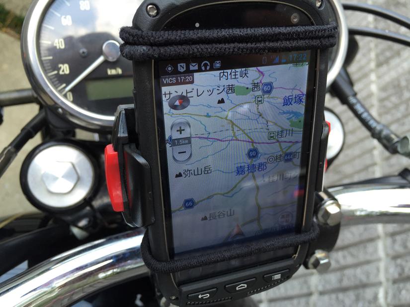 スマートフォンをバイク用ナビとして使ってみた