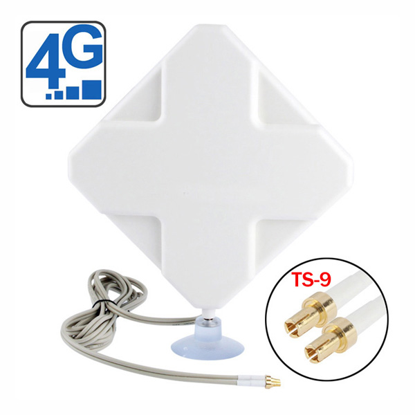 4G LTE Indoor Antenna (2 x TS-9 Connectors) for Huawei/ZTE 4G LTE Modems/dongles/mobile hotspots