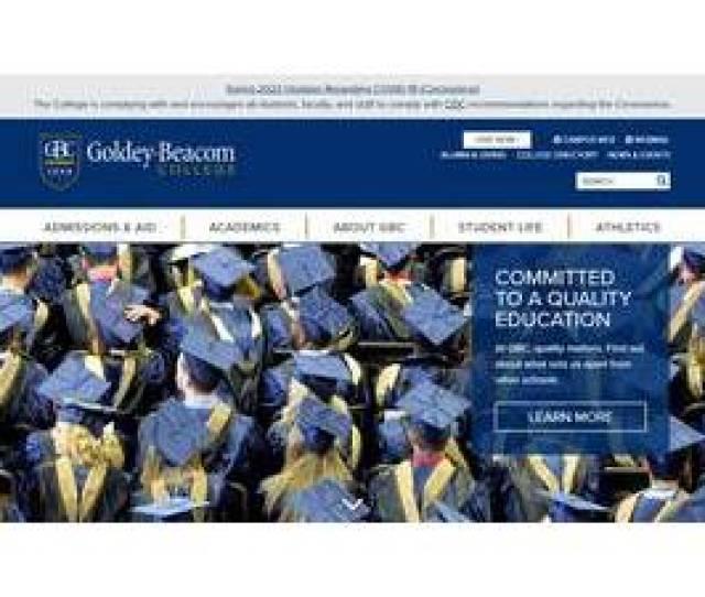 Screenshot Goldey Beacom Colleges Website Screenshot