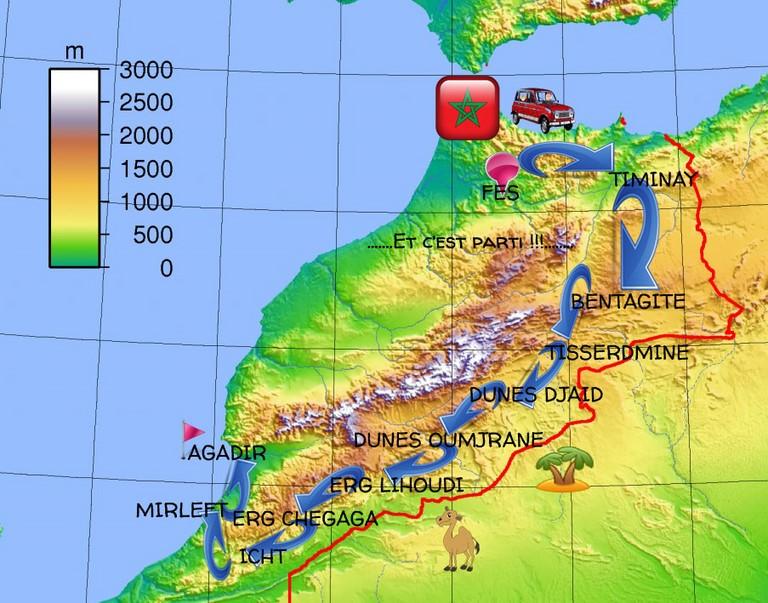 Vous traverserez les somptueux paysage du Maroc