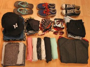 Kleidung Weltreise Frau