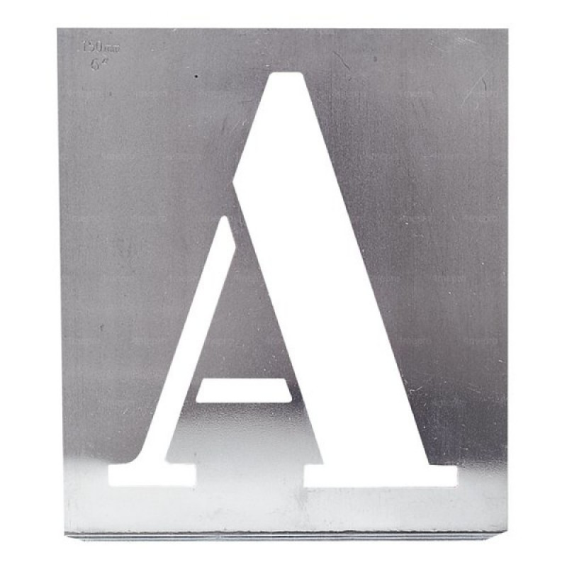 Pochoir Industriel Lettre Alphabet Zinc