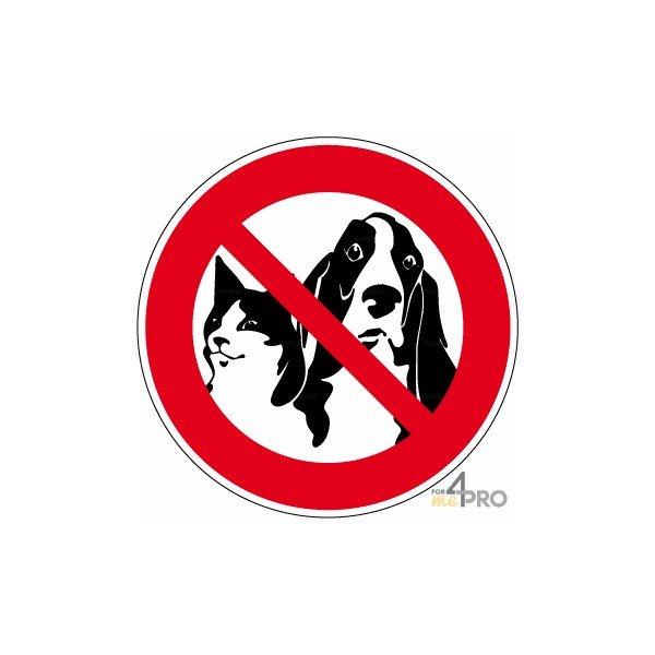 Panneau Interdiction Aux Animaux 4mepro