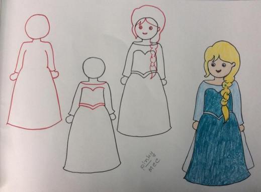 تعليم رسم أميرات ديزني بالخطوات سهلة وبسيطة توتزون موقع تعليمي