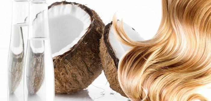 تفتيح الشعر طبيعياً بزيت جوز الهند