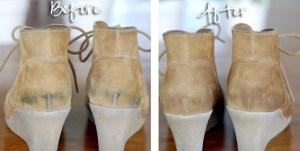 طريقة تنظيف الاحذية الشمواه والكوتشي الابيض