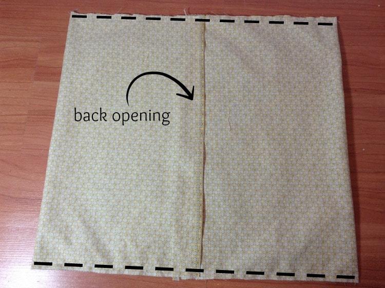 pillow cover DIY 4onemore.com