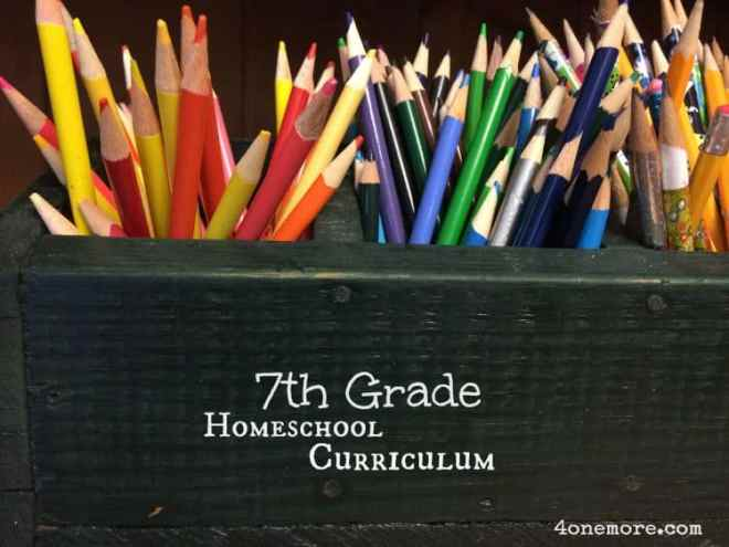 7th Grade Homeschool Curriculum