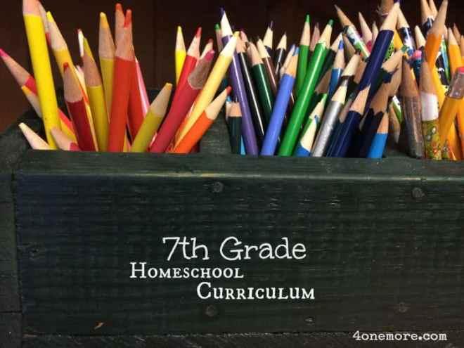 7th Grade Homeschool Curriculum