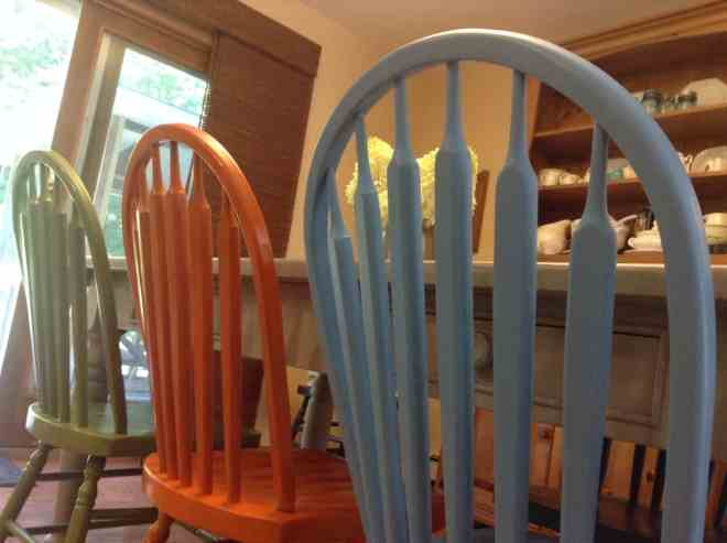painted dining room chairs @4onemore.com