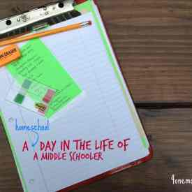 A {homeschool} Day in the Life of a Middle Schooler