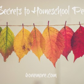 3 Secrets to Homeschool Peace