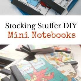 Stocking Stuffer DIY:  Mini Notebooks