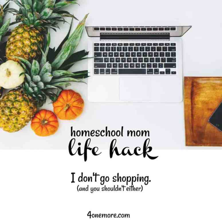 homeschool mom life hack :: grocery shopping online :: productivity :: 4onemore.com