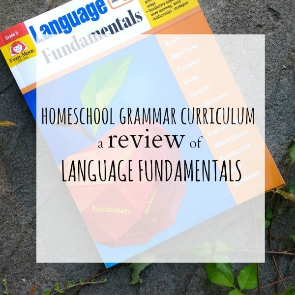 Homeschool Grammar Curriculum: Review of Language Fundamentals