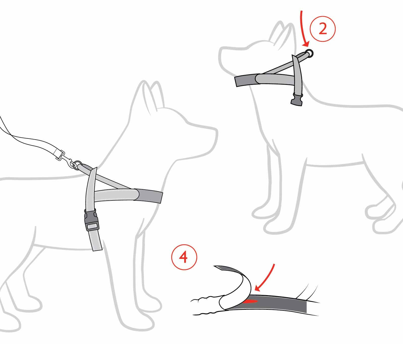 Ezydog Quick Fit Dog Harness Strong Adjustable Reflective