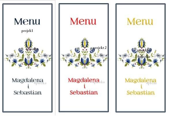 karty menu = kaszubskie 3