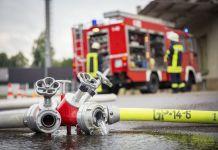 Wasserschläuche der Feuerwehr