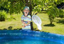 Kescher für den Pool