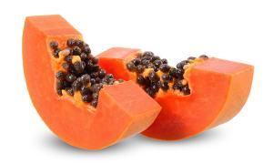 Zwei Scheiben Papaya