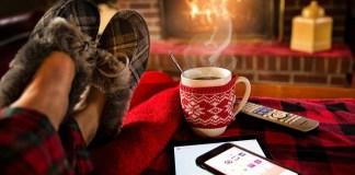 Gemütlicher Kaffee zu Hause