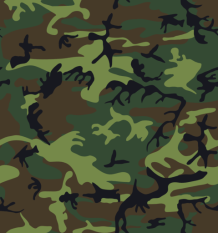 Typisches Camouflage-Muster