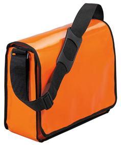 Orangefarbene Kuriertasche