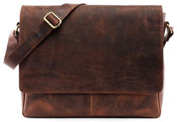 Braune Messenger Tasche